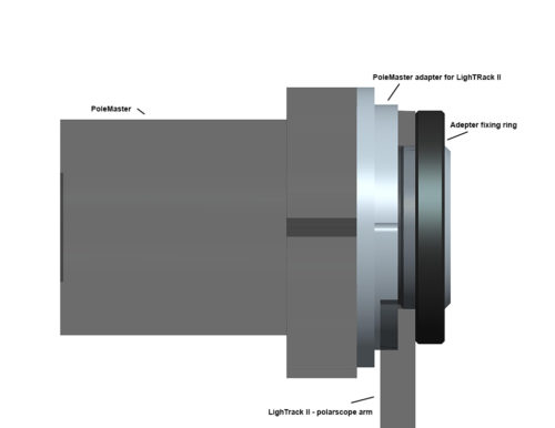 QHYCCD PoleMaster adapter for LighTrack -112